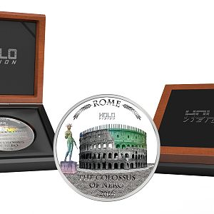 2016 Niue 3 Ounce Colossus Of Nero Holo Vision Silver Coin Set
