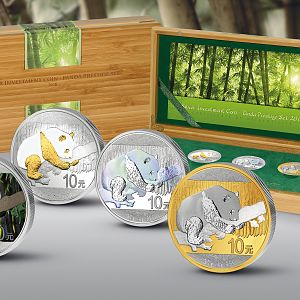 2016 30 Gram Silver Investment Prestige Panda Silver Coin Set