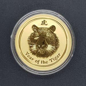 Auction 93 - Perth Mint 2010 Year Of The Tiger Gold Coin - 0.5oz (Series 2)