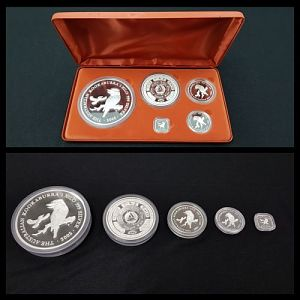 Auction 109 - The Australian Kookaburra 2003 Silver Proof Coin Issue Five-Coin Set 1 Of 2