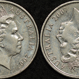 2007 5 Cents Double Heads 20190221